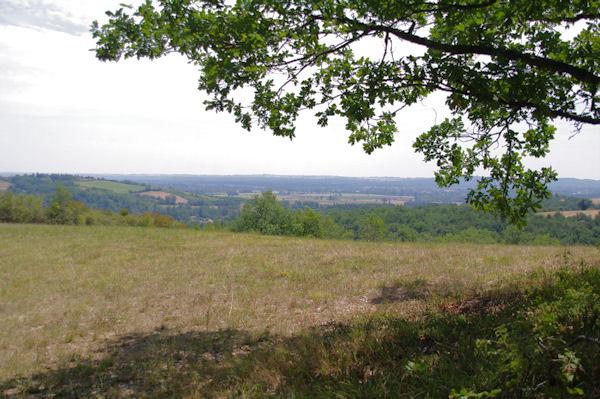 La vallée du Tarn depuis Les Birades
