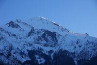 Le Pic du Midi d'Arren eclaire des derniers rayons de soleil