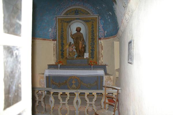 La statue de St Roch