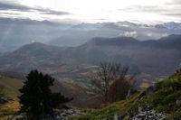 La vallee du Bergons depuis la crete Est du Soum d'Andorre