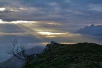 Lever de soleil depuis la crête Est du Soum d_Andorre
