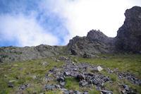 La coulee empruntee pour rejoindre le sommet du Pic de l'Arcoeche