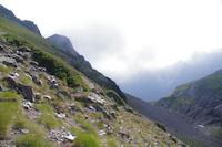 Les pentes Sud du Pic de l'Arcoeche