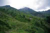 Le Moneste et le Pic de l'Arcoeche dans les nuages