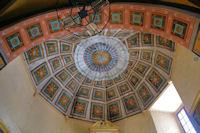 Le joli plafond peint de l'eglise de Marsous