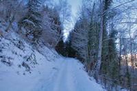 Le chemin au dessus du Bayens