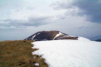 Le sommet du Mont Merag, au fond, le Pic de Mont Aspet