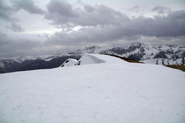 La crête Sud enneigée du Pic de Mont Aspet