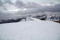 La crete Sud enneigee du Pic de Mont Aspet