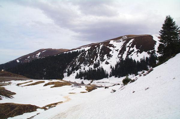 Le Mont Mérag, au fond, le Pic de Mont Aspet