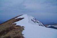 La crete Sud enneigee du Pic de Mont Aspet depuis la cote 1831
