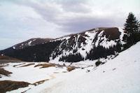 Le Mont Merag, au fond, le Pic de Mont Aspet
