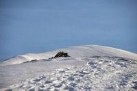 Le Cul de la Serre, derrière, le Pic de Mont Aspet