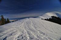 La crete menant au Pic de Mont Aspet
