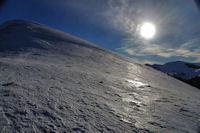 Les pentes gelees du Pic de Mont Aspet