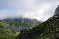Le Grand Gabizos dans les nuages