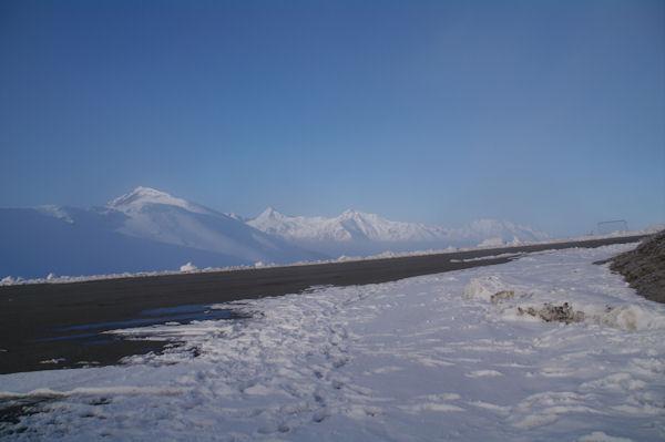 Depuis le parking supérieur de la station de Hautacam, le Soum de Maucasau, le Moun Né, le Cabailros et les Gabizos