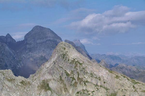 Antécime du Pic de la Lie, Lurien et Pic du Midi d_Ossau