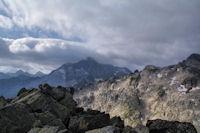 Le Pic de Balaitous dans les nuages