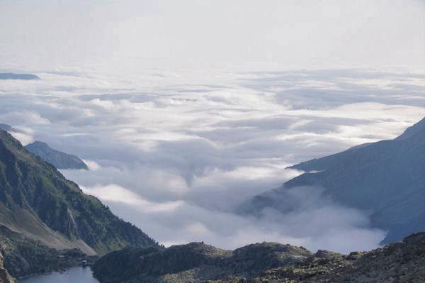 Mer de nuages sur Arrens