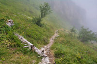 Brumes de vallee en descendant vers le Plaa d'Aste