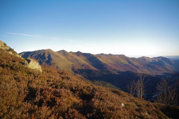 Les crêtes dominant la vallée du Bergons, du Soum de Granquet au Pic de Pibeste