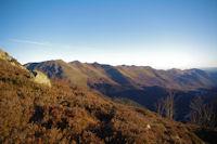 Les cretes dominant la vallee du Bergons, du Soum de Granquet au Pic de Pibeste
