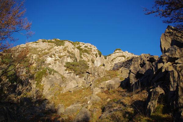 Les dernières pentes pour accéder au Pic de Bazès