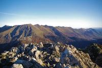 Les cretes dominant la vallee du Bergons, du Pic d'Estibete au Pic de Pibeste