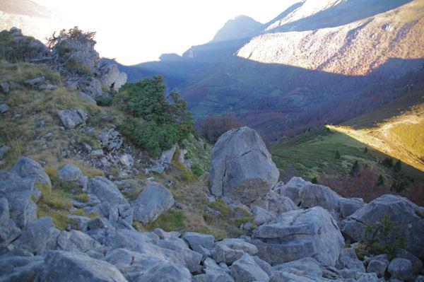Passage pour descendre du Pic de Bazès