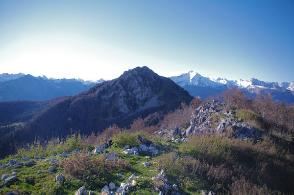 Le Pic de Bazès depuis le Pic de Navaillo