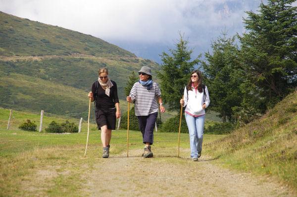 Mes trois accompagnatrices au Lac de Soum