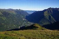 La vallee du Gave de Pau depuis le Pic de Bergons