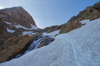 La cascade du Taillon en remontant vers le Col des Sarradets