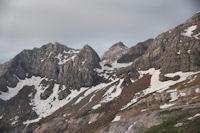 Le Casque du Marbore au dessus du Col des Sarradets