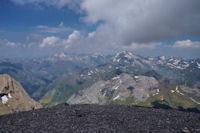 Vue à l_Ouest depuis le sommet du Taillon, Vignemale, Balaïtous, Grande Fache...