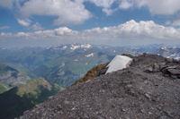 Vue au Nord depuis le sommet du Taillon, Pic du Midi de Bigorre, Néouvielle...