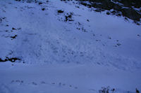 Avalanches sous le Pic de Bassia