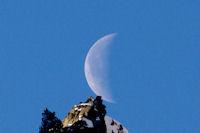 La lune entre le Petit et le Grand Arroubert