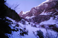 Le bas de la vallée du Labas depuis les Goules