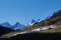 Pic de Balaitous, la Pourgadou, Les Piques de l'Arriougrand, le Pic Cadier et la Pique d'Aste