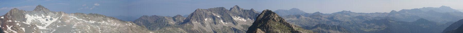 Panoramique Ouest-Nord depuis le pic d'Estaragne