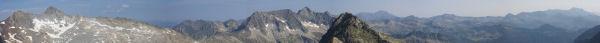 Panoramique Ouest-Nord depuis le pic d&#39Estaragne