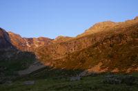 Leve de soleil sur les cretes d'Estaragne et de Cintes Blanques
