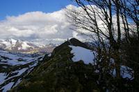La crete menant au Pic de Cantau