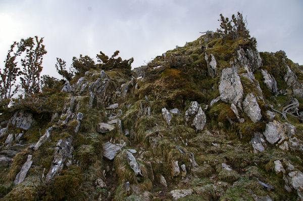 Un petit ressaut sur la crête du Pic de Cantau