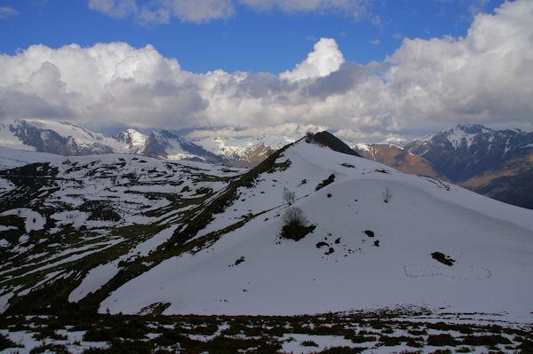 Le Cap de Castère et le Pic de Cantau depuis le Pic de Berbeillet