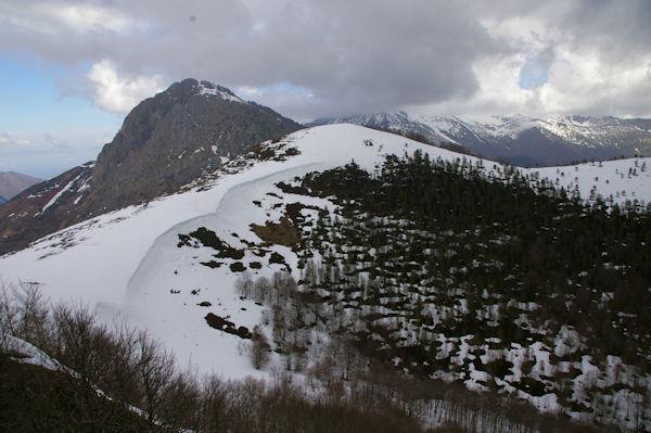 Au centre, le Soum de Berducou, à gauche, le Pic de Bazès depuis le Pic de Berbeillet