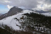 Au centre, le Soum de Berducou, a gauche, le Pic de Bazes depuis le Pic de Berbeillet