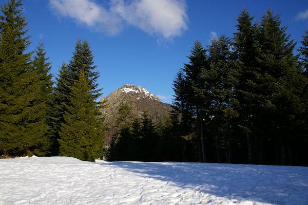 Le Pic de Bazès depuis le Col de la Serre